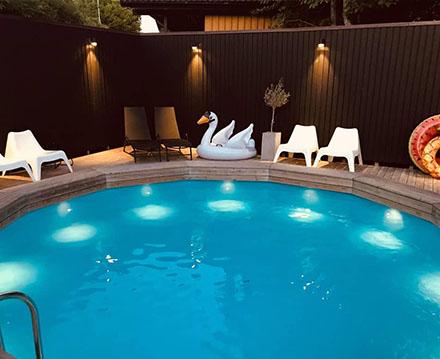 belysning av pool